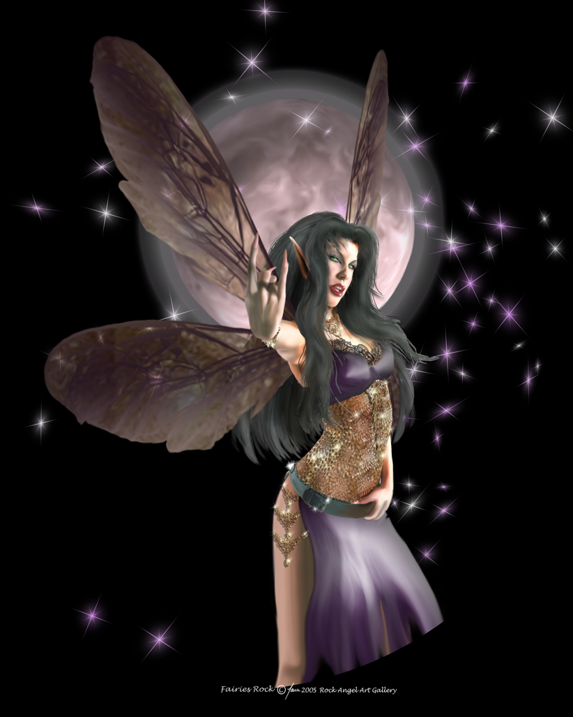 Dark Fantasy Fairies http://www.rockangel.com/1Galleries/2PS/FairiesRock.html