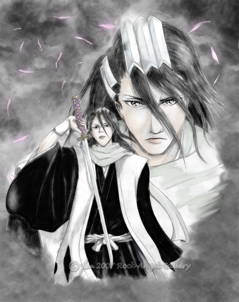 Bleach Byakuya Drawing Uncolored Drawing Better